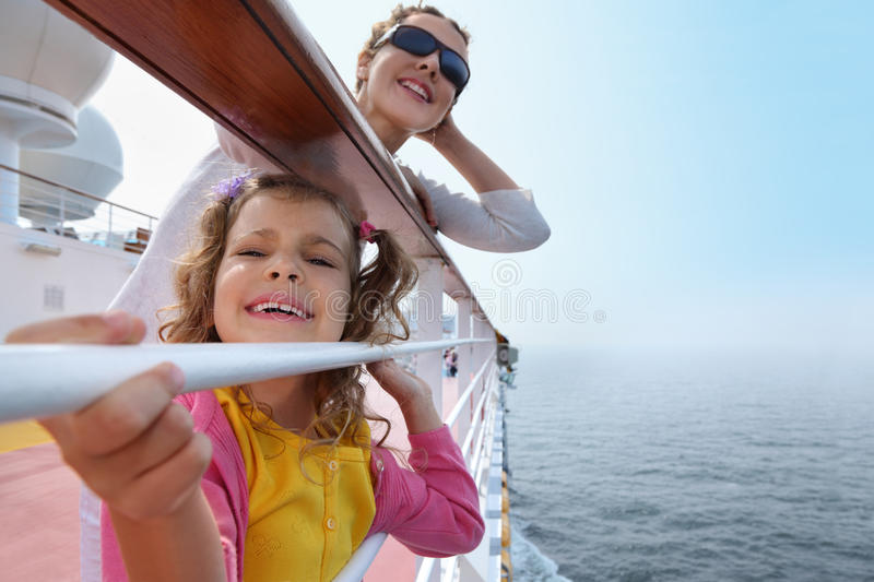 Download Mother And Little Daughter Stand On Board Of Ship Stock Photo - Image: 26086918