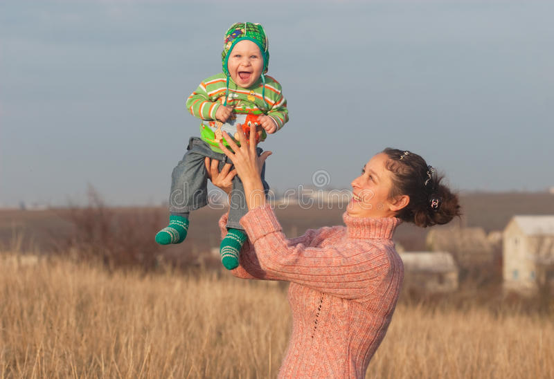 Download Mother With Little Laugh Son Stock Image - Image of youngster, maternity: 35774691