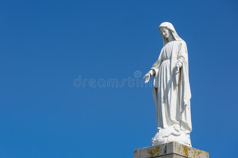 Mother mary from above royalty free stock images