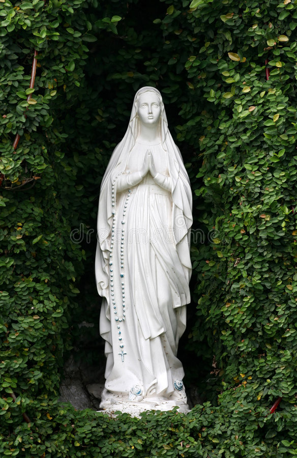 Mother Mary at grotto royalty free stock photo