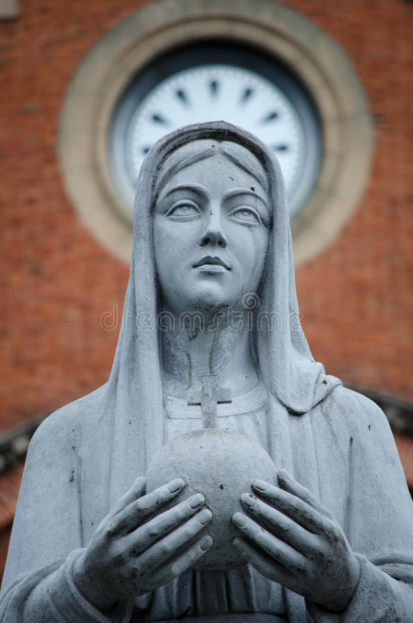 Mother Mary statue stock image