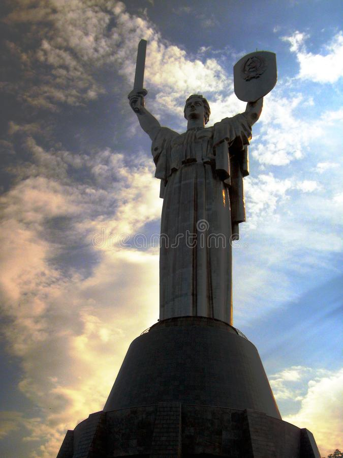 Mother of the Motherland monument in Kiev, Ukraine royalty free stock photography