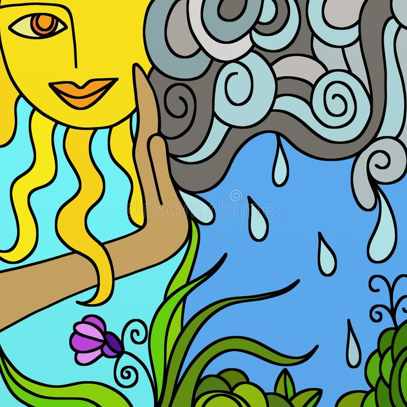Mother Nature royalty free illustration