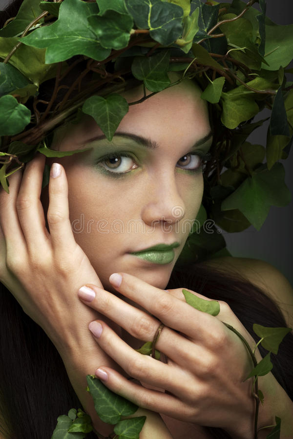 Mother nature. Portait of a beautiful mother nature stock image