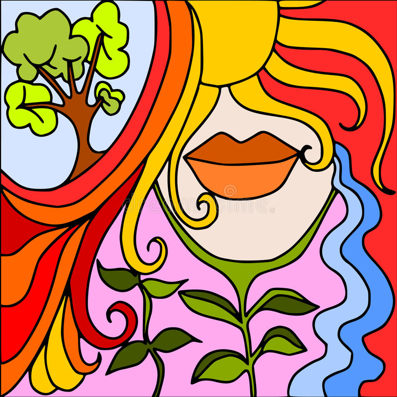 Mother nature vector illustration