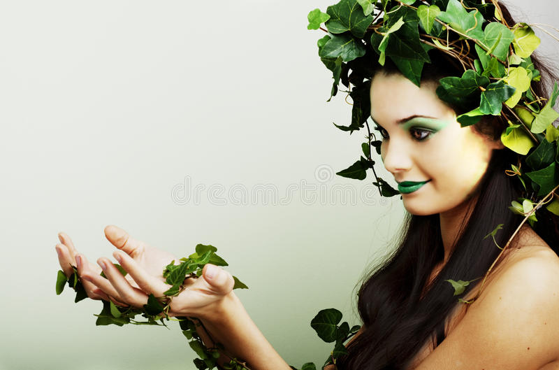 Mother Nature With Palms Up Royalty Free Stock Photo