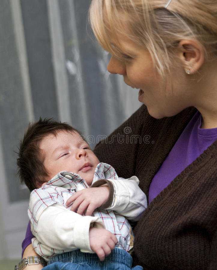 Mother and newborn baby royalty free stock photography