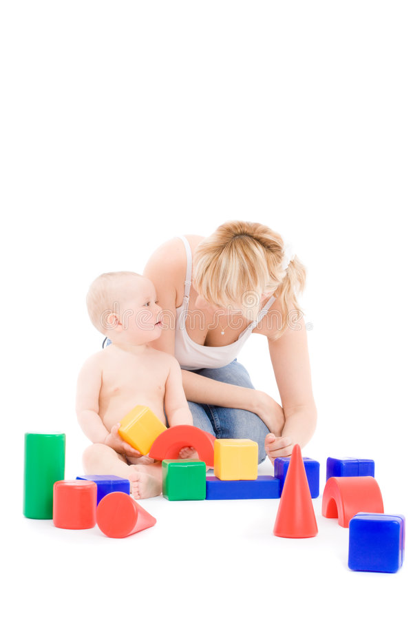 Free Mother Play With Little Daughter On Playground Royalty Free Stock Photos - 5376738