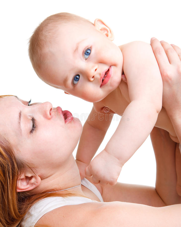 Mother playing with baby royalty free stock photo