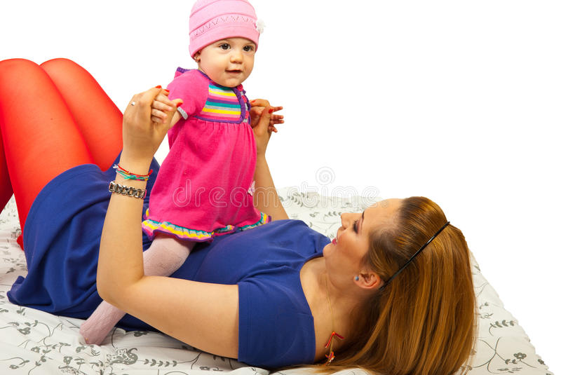 Download Mother Playing With Her Baby Girl Stock Image - Image: 24307721