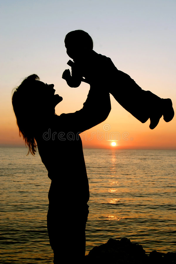 Download Mother Playing With Her Son Stock Image - Image: 5139505