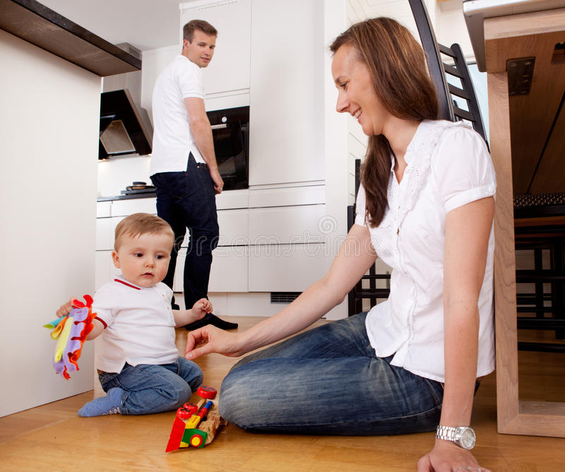 Mother Playing with Son royalty free stock photo