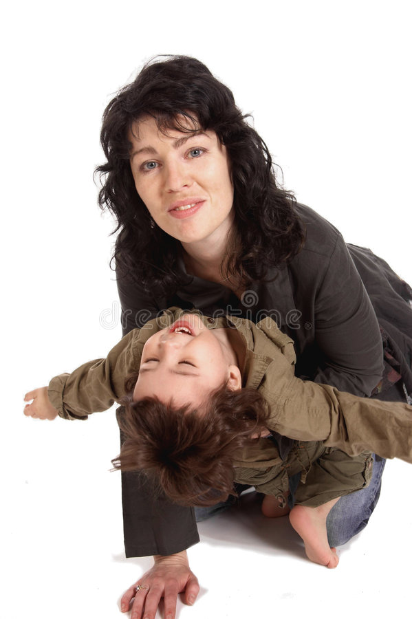 Download Mother Plays With Her Little Son Stock Image - Image: 7764729