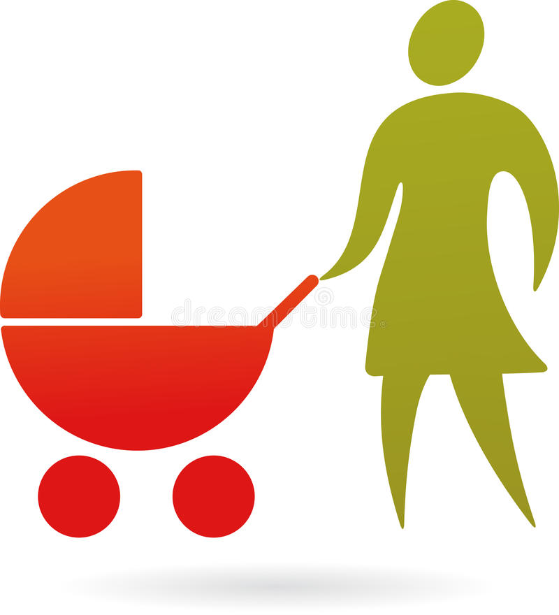Download Mother With A Pram Royalty Free Stock Image - Image: 14012266