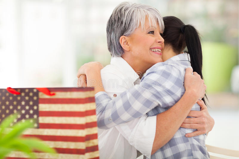 Download Mother receiving gift stock image. Image of caucasian - 33856429
