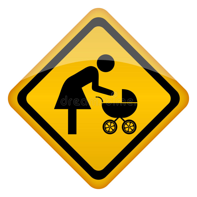 Mother Restroom Icon Stock Images