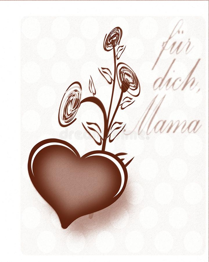 Download Mothers Day Greeting Card In German Stock Illustration - Image: 13229577