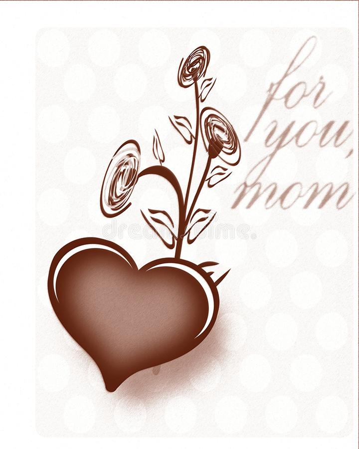 Mothers day greeting card in English vector illustration