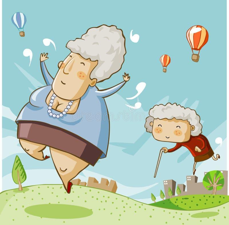 Download Mother's Day stock vector. Image of mother, vector, elderly - 13296104