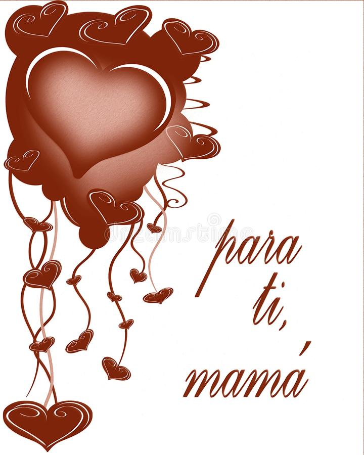 Mothers Day Greeting Card In Spanish Stock Photography