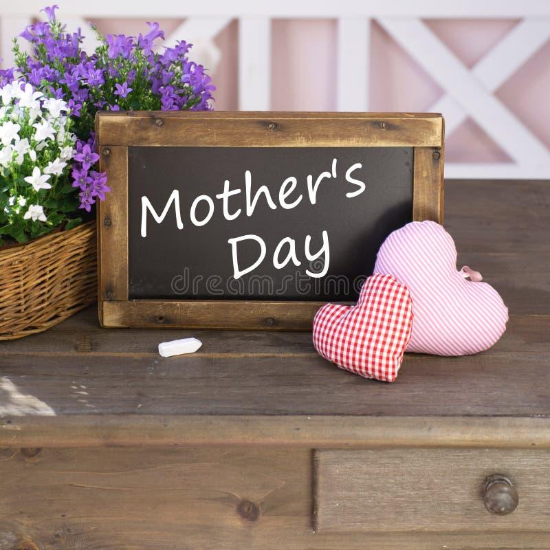 Mother's Day. Written on blackboard