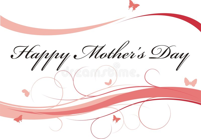 Mother's day. Mothers day background with lines and butterflies