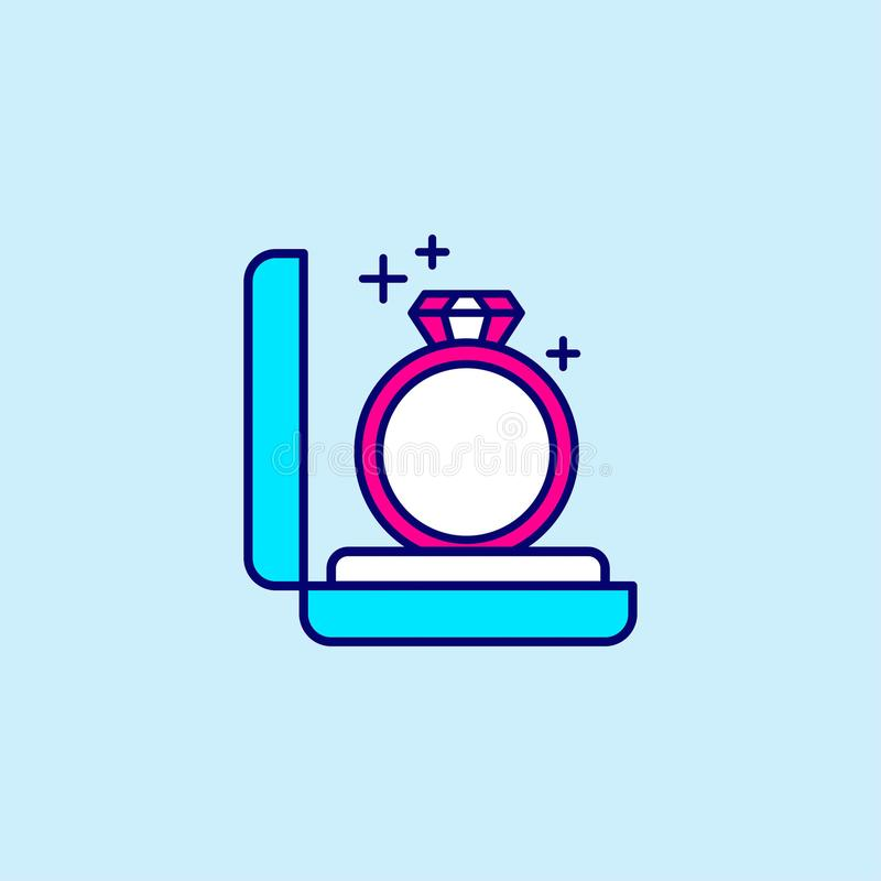 Mother's day blue and pink color icon on light blue background v royalty free illustration