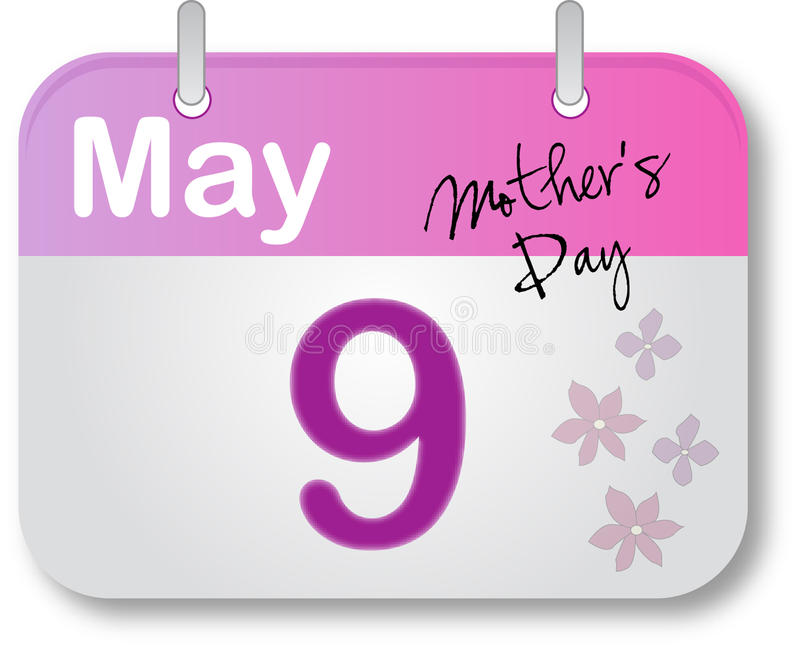 Download Mother's Day Calendar Page Royalty Free Stock Photos - Image: 13459798