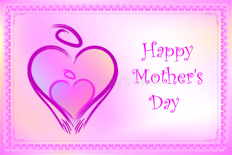 Vector Mother\'s Day Card Frame Stock Vector - Illustration of 2020 ...