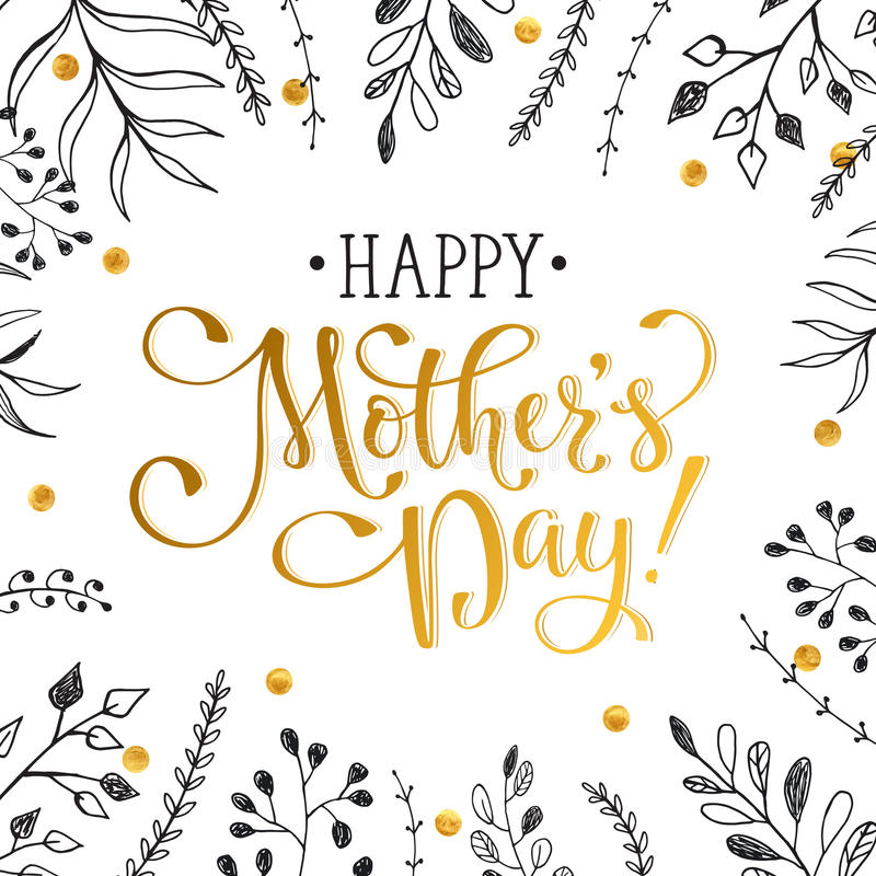 Mother's Day card vector illustration