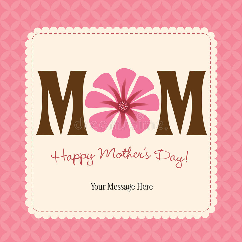 Download Mother's Day Card/Poster Royalty Free Stock Photos - Image: 9083238