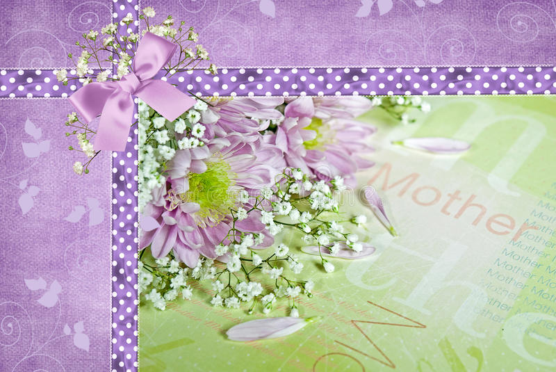 Mother's Day Daisies. Daisy bouquet on Mother's Day paper royalty free illustration
