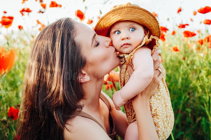 Mother`s Day and daughters. Advertising family values and traditions. Nice, family, good photo of mother and daughter. Mother`s Day and daughters. Advertising royalty free stock images