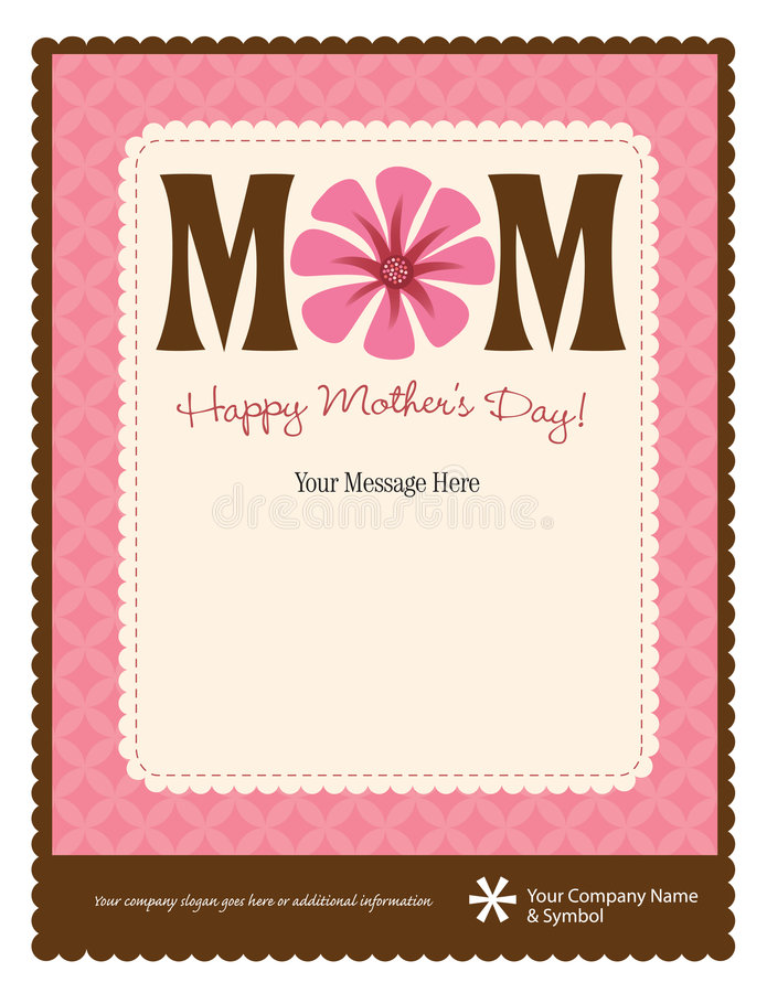 Free Mother S Day Flyer/Poster Template Royalty Free Stock Image - 9083236