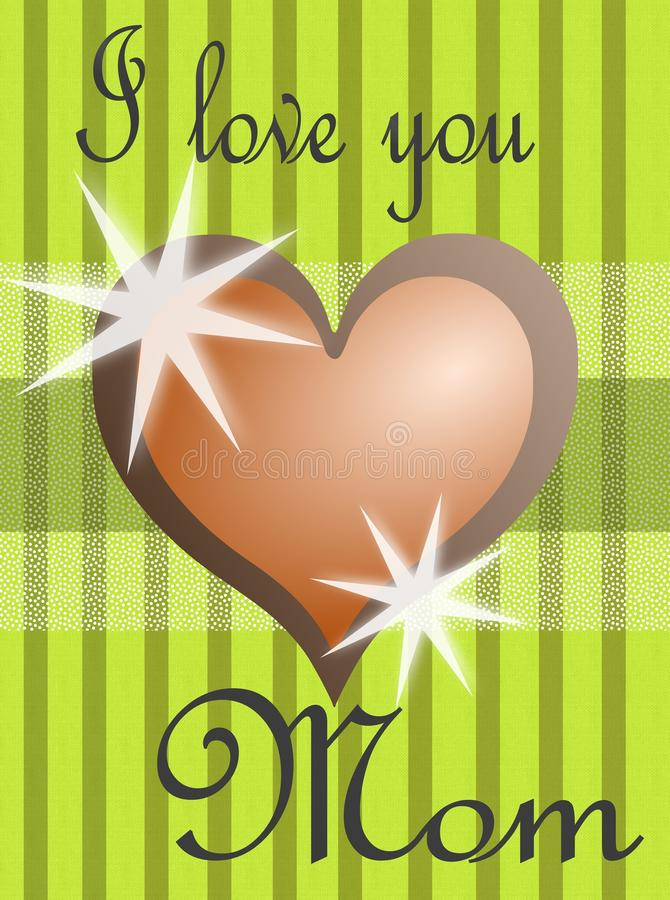 Mothers day greeting card with heart stock photo