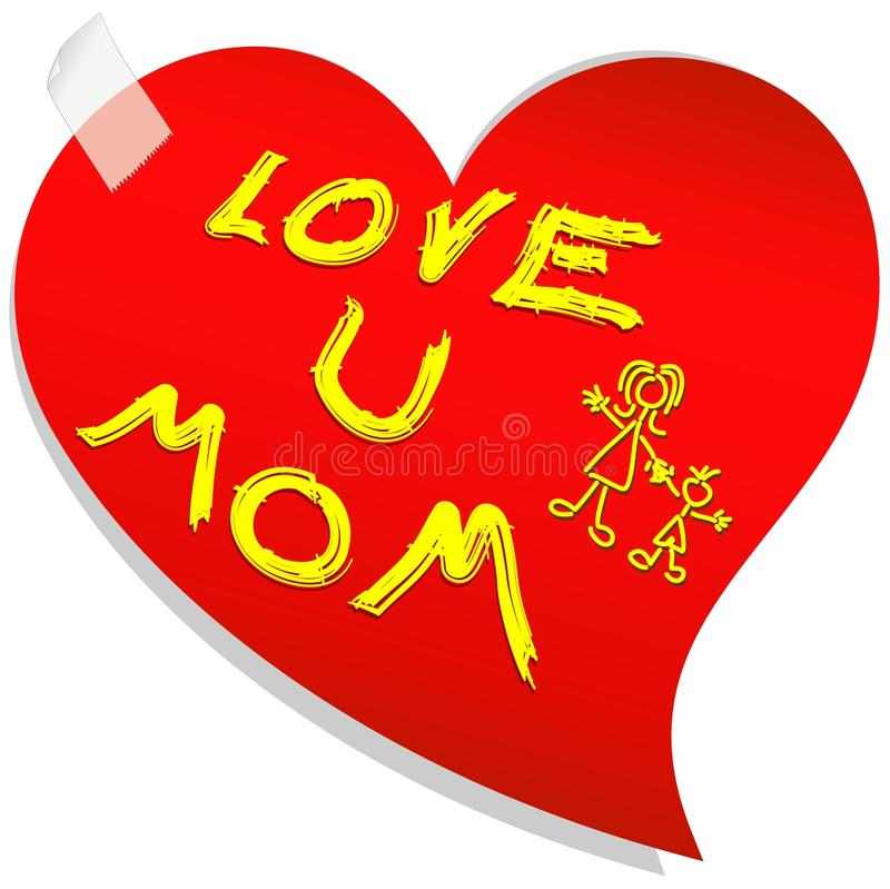 Download Mother's Day Love Message stock illustration. Illustration of daughter - 19338976