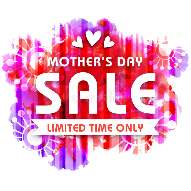 Mom Day Sale Ͽ� Seasonal A5 Flyer Template: Mother's Day Sale Poster, Banner Or Flyer. Stock