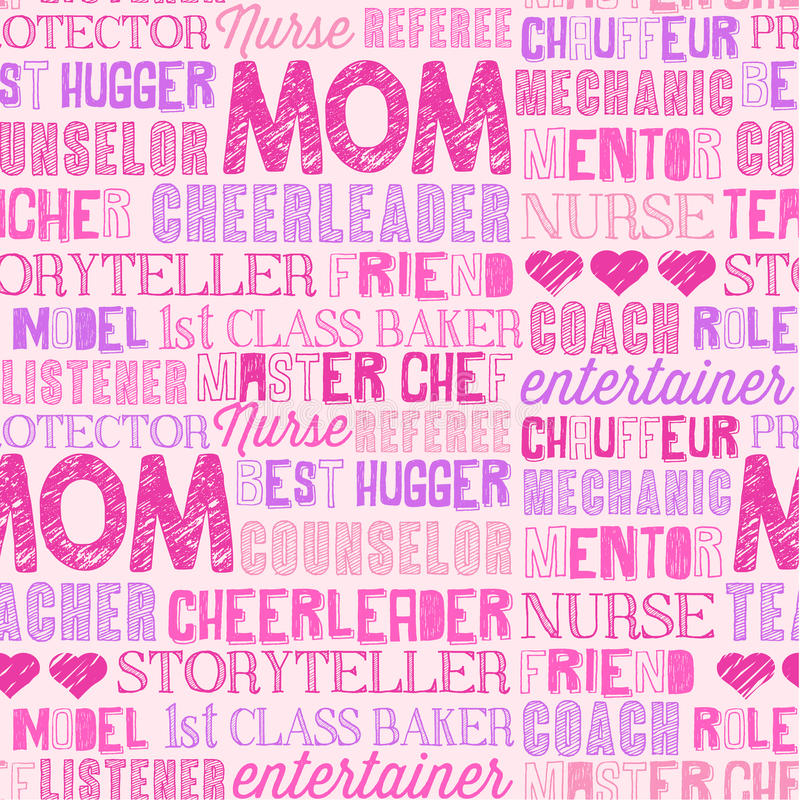 Free Mother`s Day Seamless Word Pattern Stock Photos - 87760273