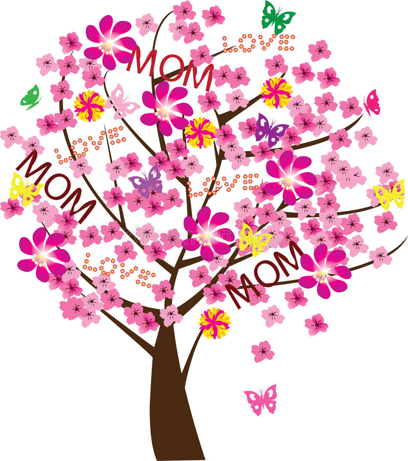 Mother's day tree royalty free illustration