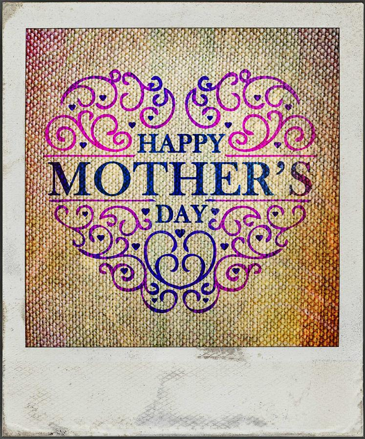 Mother's day vintage card royalty free stock images