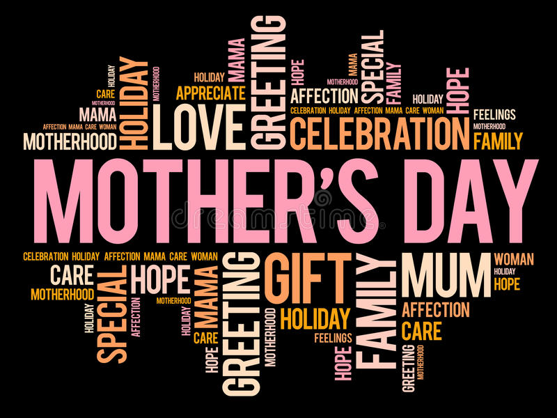 Mother`s Day word cloud, care, love vector illustration