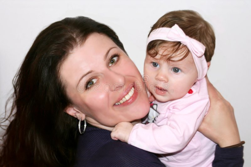 Mother and small baby royalty free stock photo