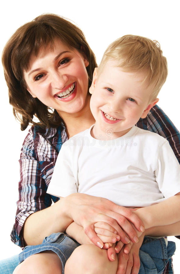 Download Mother and son stock image. Image of caucasian, happy - 10254129
