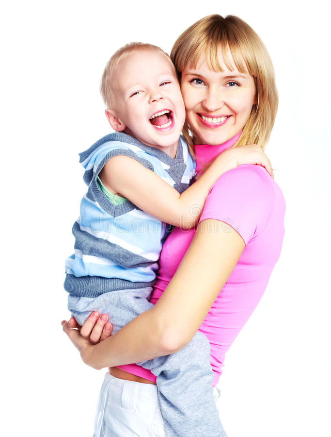 Download Mother and son stock photo. Image of blond, parenting - 12877306