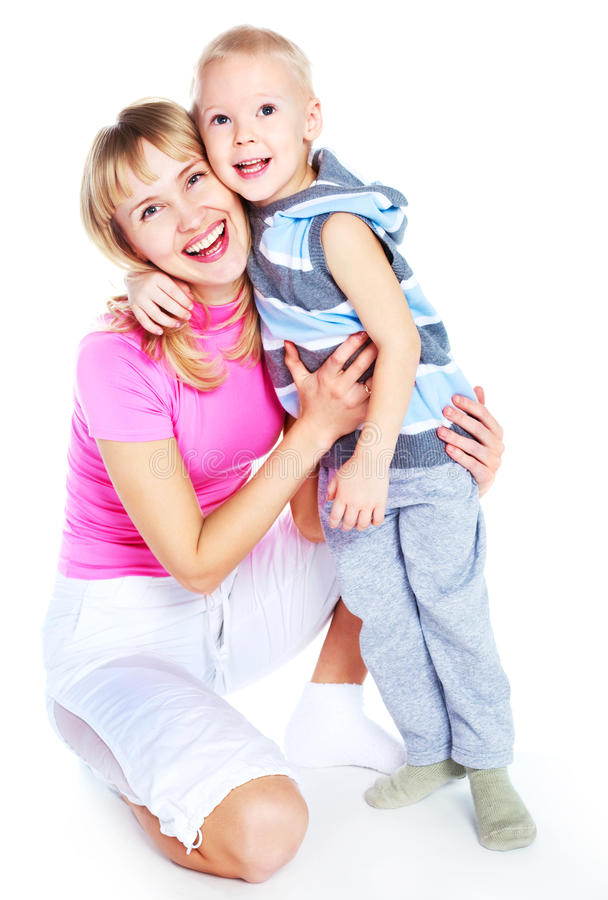 Download Mother and son stock image. Image of parent, blond, tenderness - 12978751
