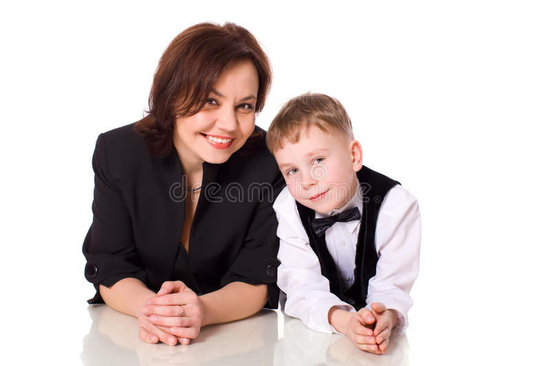 Download Mother and son stock image. Image of staring, excited - 13331689