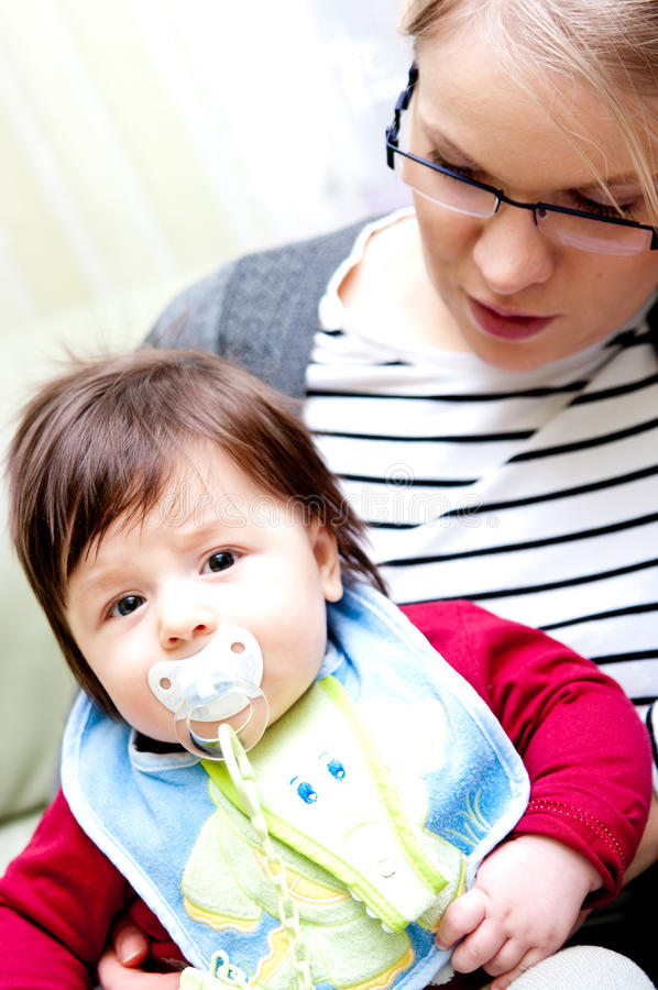 Download Mother and son stock photo. Image of caucasian, pacifier - 13466604