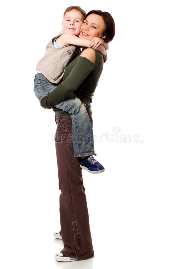 Download Mother and son stock image. Image of staring, care, isolated - 17182635