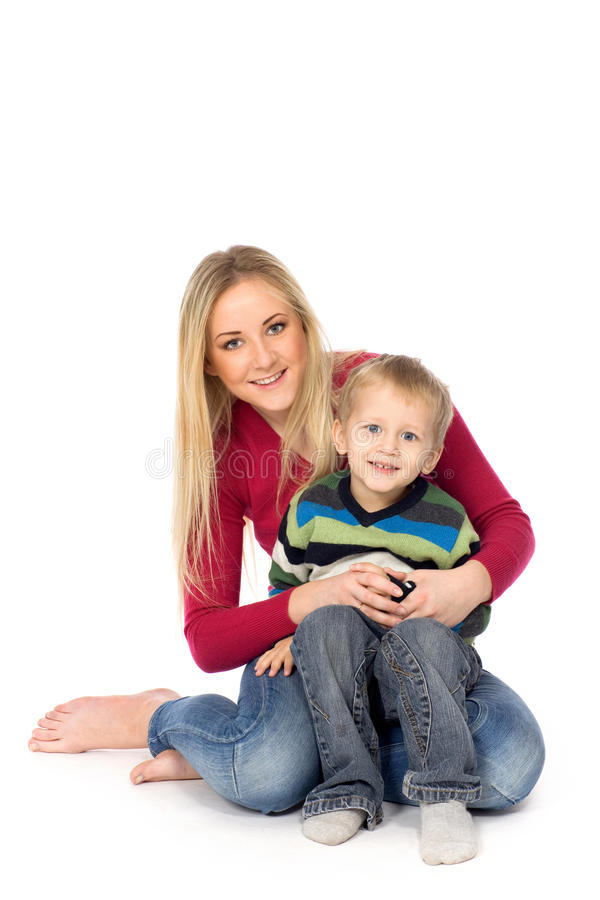 Download Mother and son stock image. Image of parent, sitting - 18025517