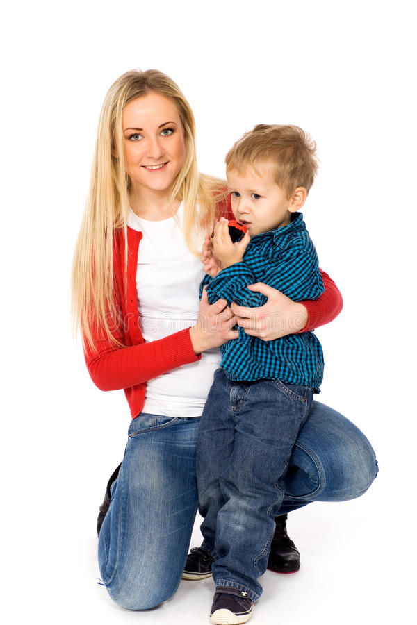 Download Mother and son stock image. Image of happiness, child - 18025639